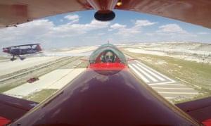 Eskişehir, Turkey: acrobatics pilot Semin Ozturk Sener performs in her Pitts S2-B model stunt plane over Sivrihisar Necati Artan aeronautical facilities