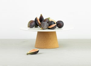 Liga is a Cornish design studio/shop selling eco gifts and homewares specialising in cork. Cork pottery cake stand, £42, loveliga.co.uk