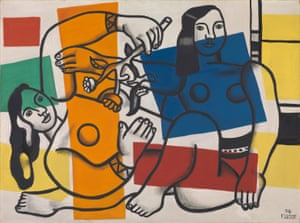Fernand Léger's Two Women Holding Flowers, 1954.