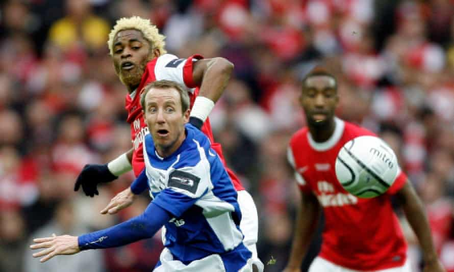 Lee Bowyer in action during Birmingham's League Cup final win over Arsenal in 2011. He returns as manager with the club in danger of dropping into League One.