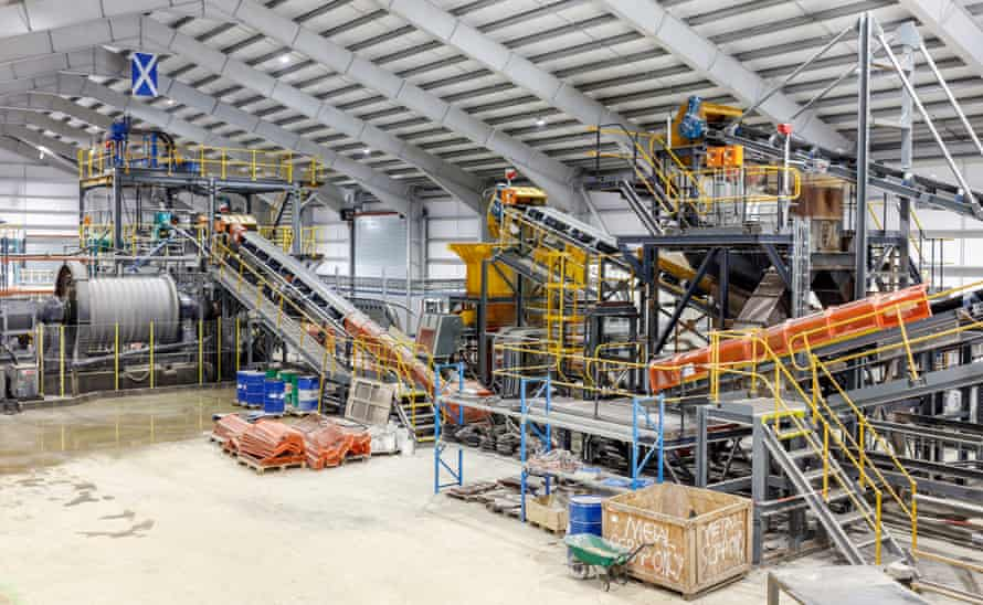 The processing plant at Cononish Gold and Silver mine near Tyndrum in the central Highlands of Scotland