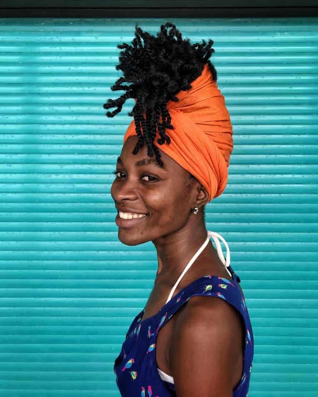 Virginia DaSylva poses for a portrait at a friend's wedding near Dakar, November 2018