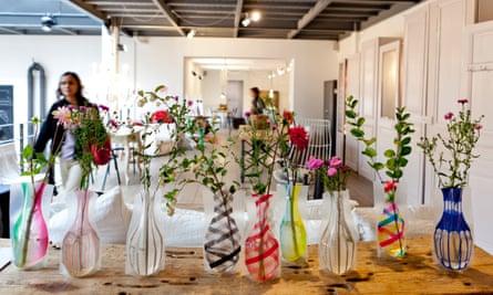 Interior of the Merci design shop on boulevard Beaumarchais, Paris. France.