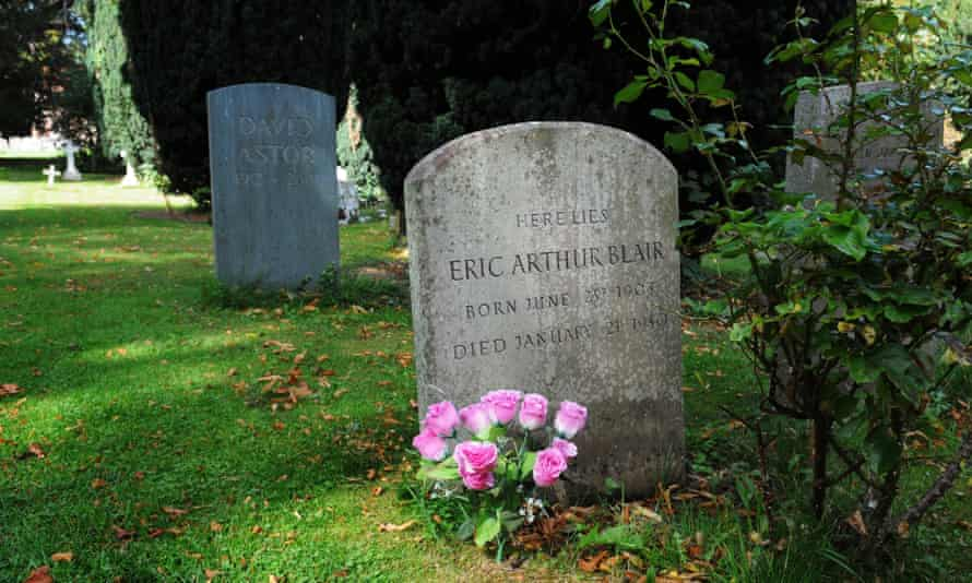 Orwell's grave in Sutton Courtenay, Oxfordshire, beside that of David Astor.