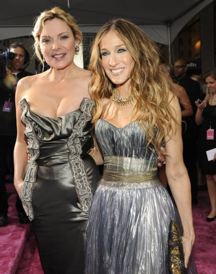 Gossip girls … Sex and the City stars Kim Cattrall and Sarah Jessica Parker.