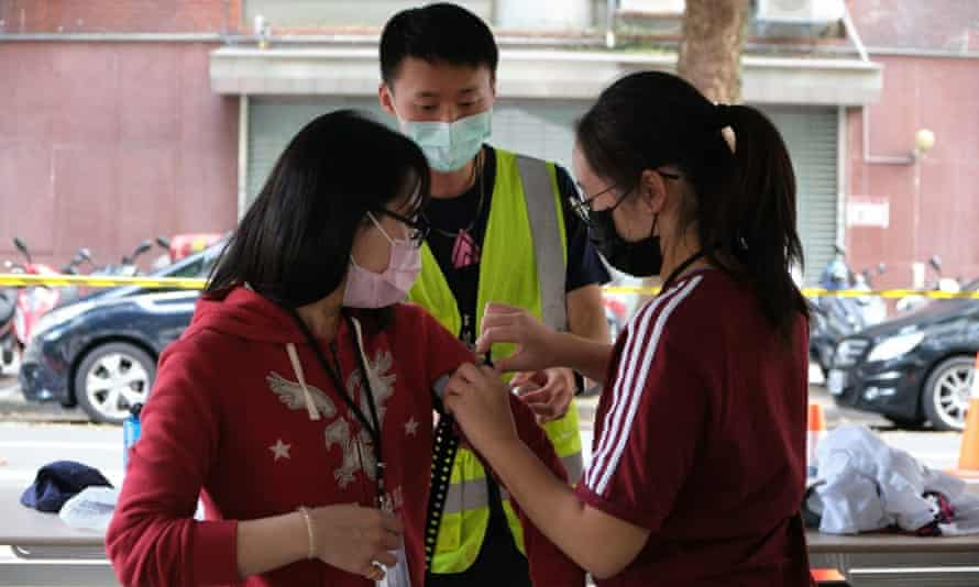 Members of the public participate in resilience training in Taiwan.