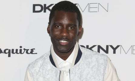 The footage, shared by Wretch 32, pictured, shows his father falling downstairs.