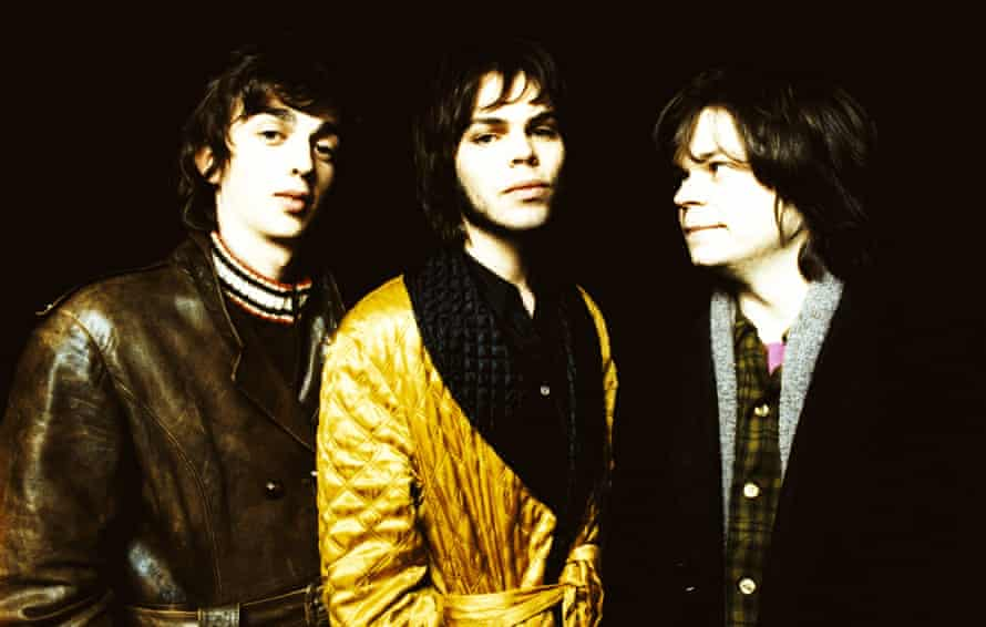Supergrass – left to right, Danny Goffey, Gaz Coombes and Mickey Quinn – photographed in 1995 at the height of their Britpop fame