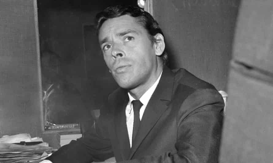 Jacques Brel in his dressing room at Olympia music-hall in Paris, 1966.