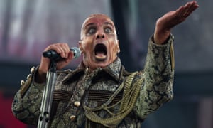 Till Lindemann of German rock group Rammstein, which is petitioning its label for a greater share of digital revenues.