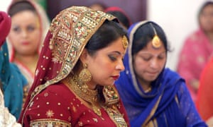 Maintaining tradition … Sonia at the Sikh ceremony for her marriage to Ravi in The Sikhs of Smethwick.