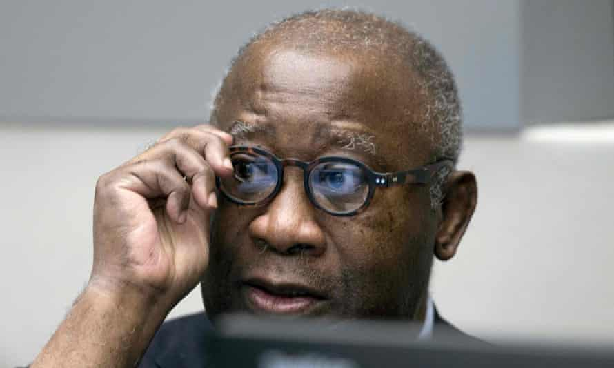 Former Ivory Coast president Laurent Gbagbo at the international criminal court in The Hague on 28 January 2016.