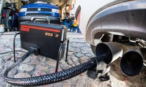 Analysis of diesel exhaust fumes.