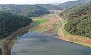 A drone image of Alibeyköy Dam