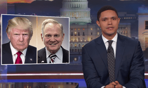 'You know what I realized? I realized that essentially Donald Trump has set the Republican party free. He's basically their Christian Grey, that's what he is' ... Trevor Noah.