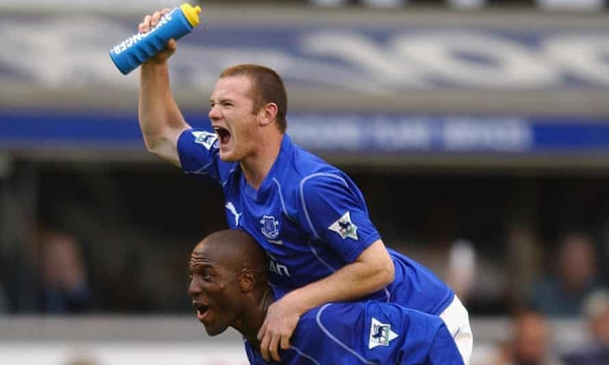 Wayne Rooney and Kevin Campbell