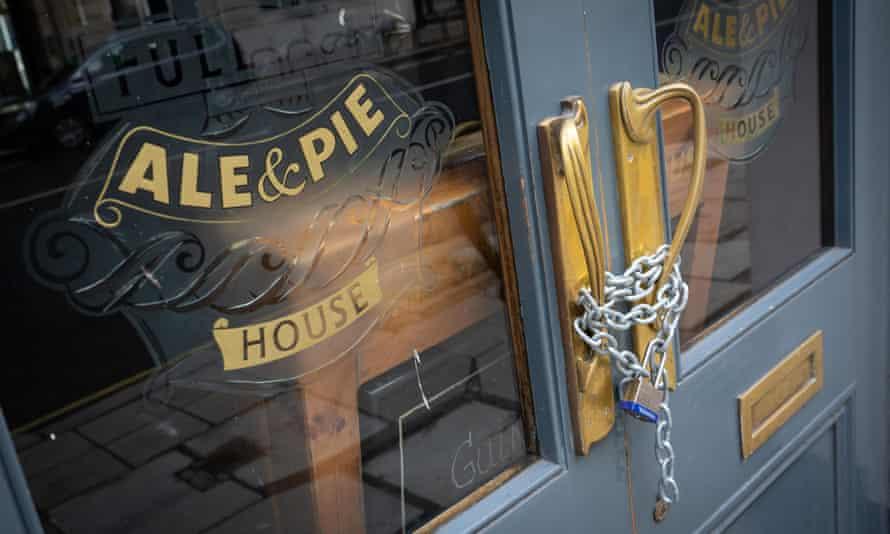 locked pub door