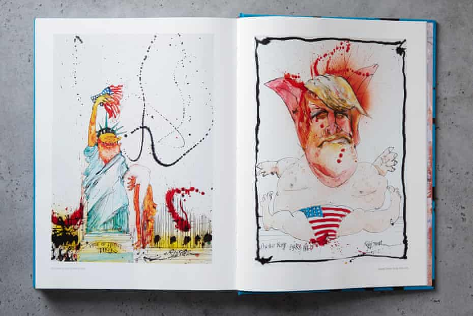 Artwork from Ralph Steadman: A Life in Ink