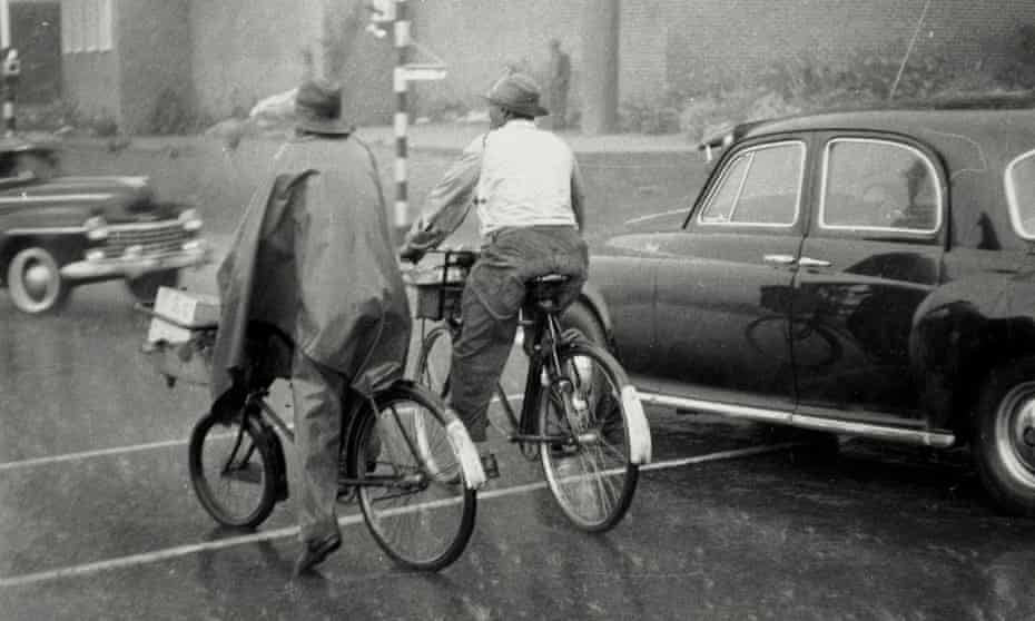 Alexander Township residents ride bicycles in 1957 as part of a boycott of bus services in protest at high fares.