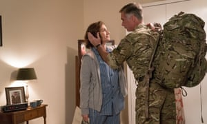 Kristin Scott Thomas and Greg Wise in Military Wives.
