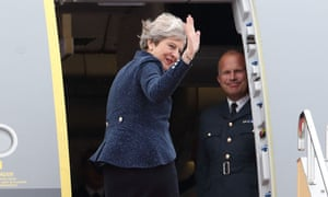 Prime minister Theresa May departs from Tokyo airport after talks with Shinzo Abe, her Japanese counterpart