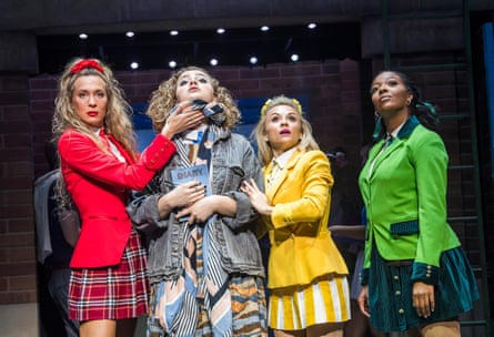 Bitchily disdainful … Jodie Steele, Carrie Hope Fletcher, Sophie Isaacs and T'Shan Williams in Heathers the Musical.