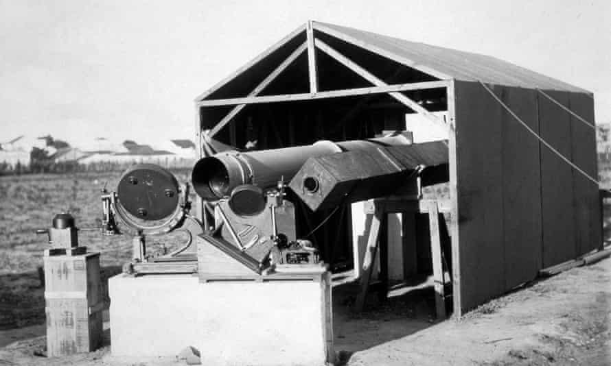 Instruments used to observe the 1919 total solar eclipse, Sobral, Brazil.