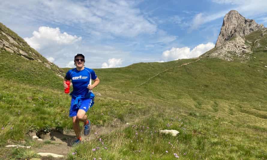 Author Mike MacEacheran trail running.