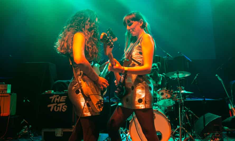 Nadia Javed and Harriet Doveton of The Tuts play the O2 Shepherd's Bush Empire in 2017.