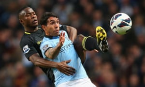 Carlos Tevez was bought from Manchester United and provided goals and a falling-out with Roberto Mancini.