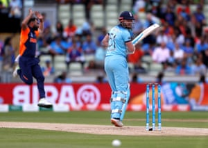 Shami screams for LBW as Bairstow looks.