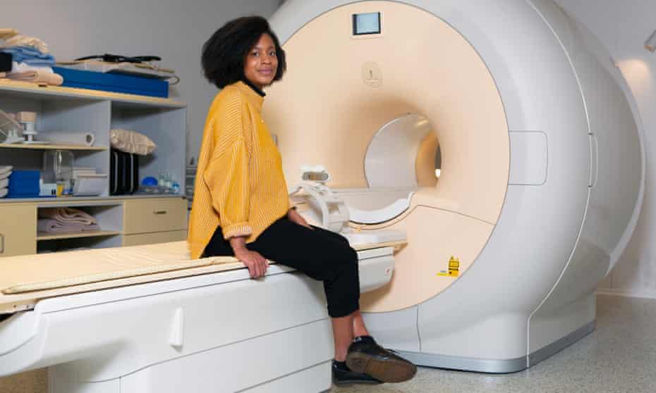 Dr Yolanda Ohene at the Wolfson Molecular Imaging Centre in Manchester.