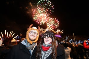 Jordan Pitt and Jessica Taylor celebrate Hogmanay in Edinburgh