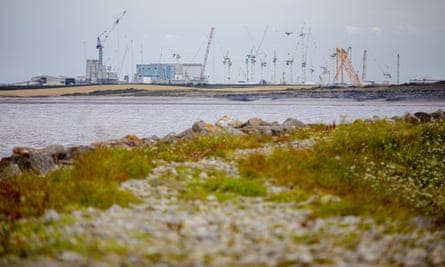 Construction work under way at Hinkley Point