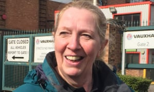 Teresa Carway, 63, has worked at Vauxhall's Luton plant since 1978: 'You could walk down here and get a job straightaway.'
