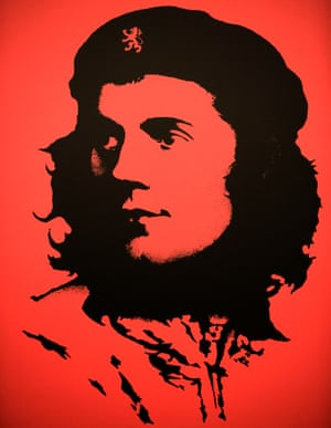 Robert Burns portrayed as Che Guevara