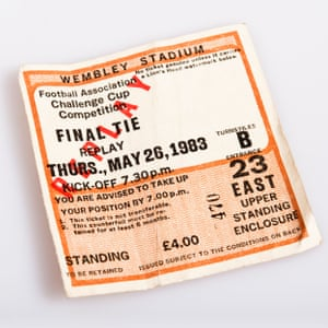 A ticket to the 1983 FA Cup final replay.