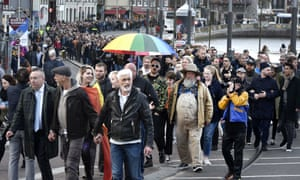 A march against anti-gay violence in Amsterdam on Wednesday.