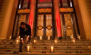 Candles are lit and roses laid to commemorate the victims of the Hillsborough disaster at St George's Hall as the 96 victims of the Hillsborough disaster are honoured with the Freedom of the City of Liverpool.