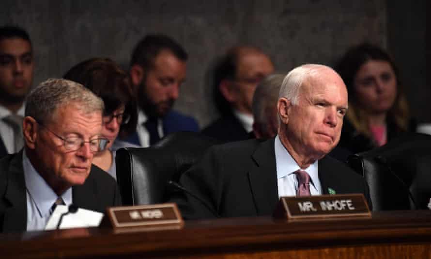 John McCain in Washington DC on Tuesday.