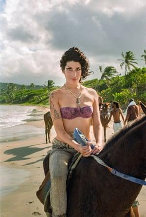 Amy Winehouse on Plantation Beach, Saint Lucia 2009