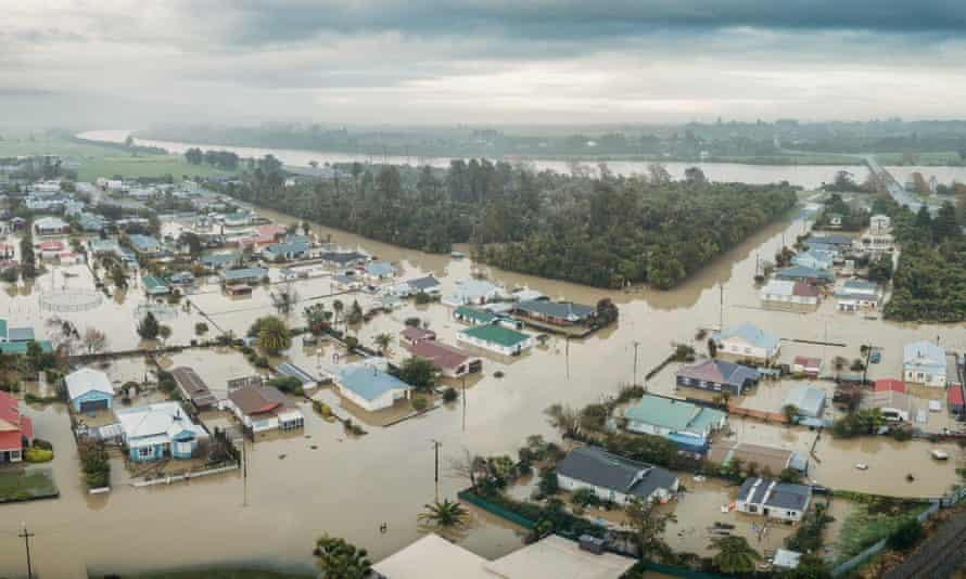 Flooding in New Zealand's Buller District.
