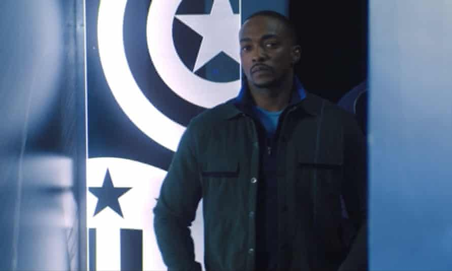 Anthony Mackie as Sam Wilson in The Falcon and the Winter Soldier episode six.