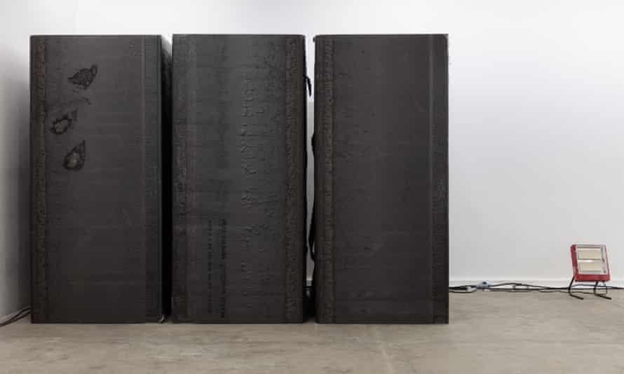 Blocked out … Park McArthur's sound-absorbing sculpture.