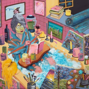 Self-Care Exhaustion self-portrait by Amber Boardman