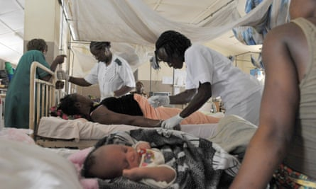 Maternity ward of the central hospital in Freetown