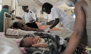 A maternity ward in Freetown, Sierra Leone