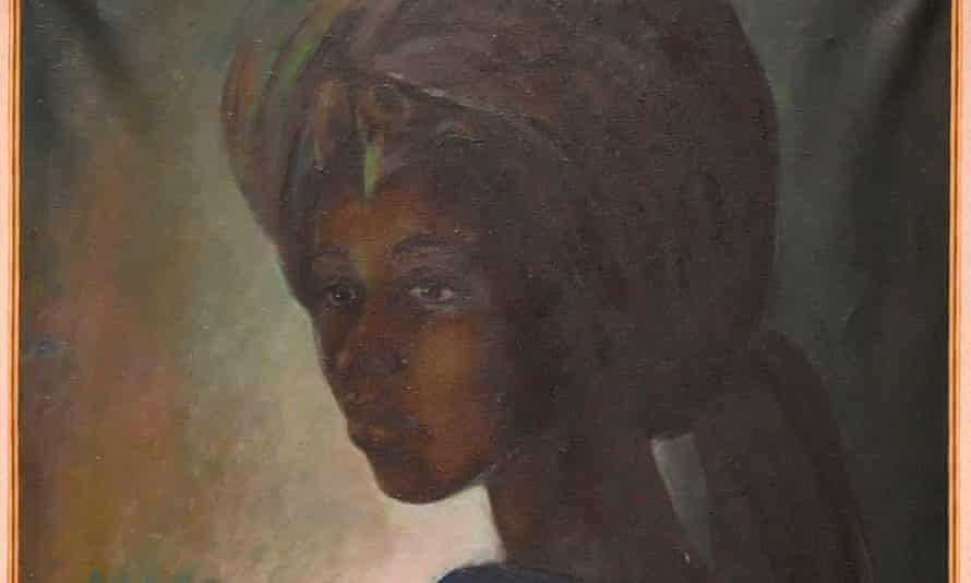 The painting of Tutu, by Ben Enwonwu, at Bonhams auction house, London (cropped).