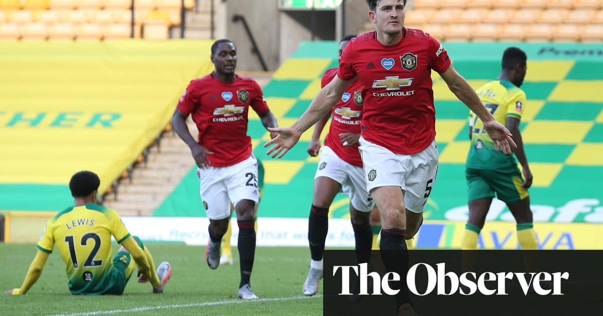 Manchester United finally end 10-man Norwich's Cup hopes through Harry Maguire