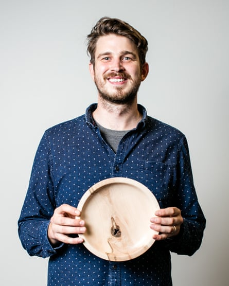 Turn turn turn: Will Welworthy and one of his bowls.